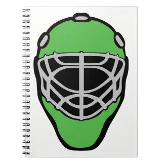 Caderno Espiral Máscara do Goalie
