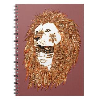 Caderno Espiral Máscara do leão