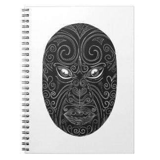 Caderno Espiral Máscara maori Scratchboard