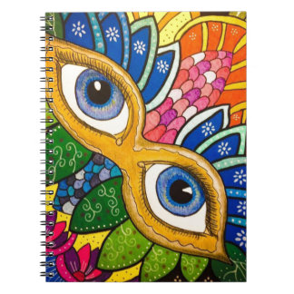 Caderno Espiral Máscara veneziano