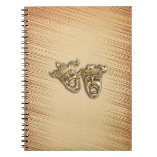 Caderno Espiral Máscaras rústicas do teatro da comédia e da