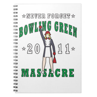 Caderno Espiral Massacre 2011 de Bowling Green