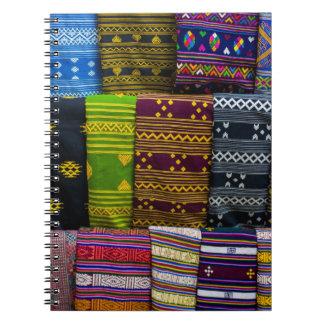 Caderno Espiral Matérias têxteis de pano para a venda