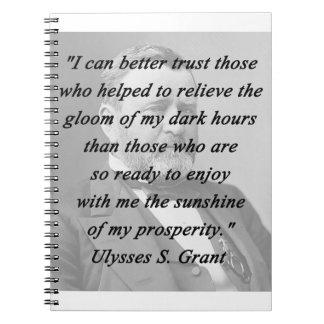 Caderno Espiral Melhor confiança - Ulysses S Grant