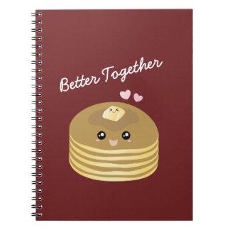 Caderno Espiral Melhore junto a manteiga bonito Foodie engraçado