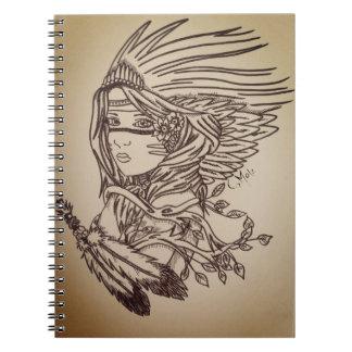 Caderno Espiral Menina nativa