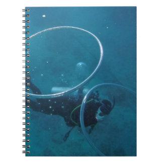 Caderno Espiral Mergulhador de mergulhador