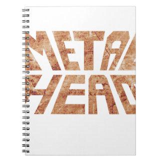 Caderno Espiral MetalHead oxidado