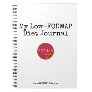 Caderno Espiral Meu Baixo-FODMAP jornal da dieta