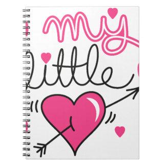 Caderno Espiral Meu pequeno, coração, miúdo, amor