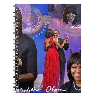 Caderno Espiral Michelle Obama