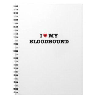 Caderno Espiral Mim coração meu Bloodhound