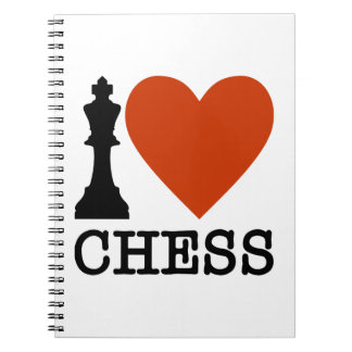 Caderno Espiral Mim xadrez do coração