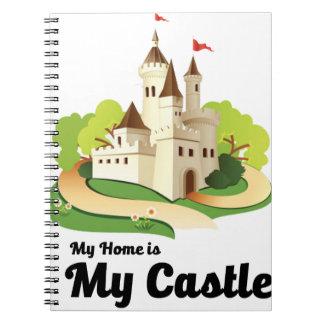 Caderno Espiral minha casa meu castelo