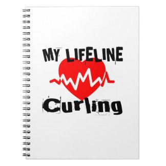 Caderno Espiral Minha linha de vida design de ondulação dos