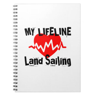 Caderno Espiral Minha linha de vida navigação da terra ostenta o