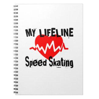 Caderno Espiral Minha linha design de patinagem da vida dos