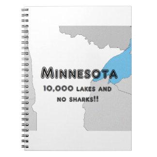 Caderno Espiral Minnesota engraçado