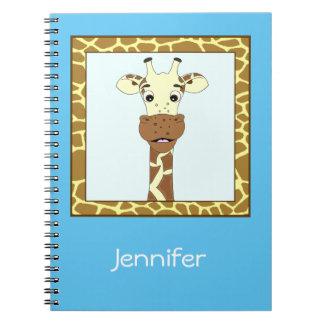 Caderno Espiral Miúdos engraçados dos desenhos animados do girafa
