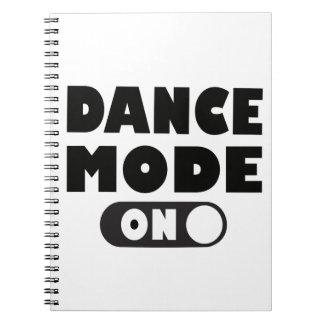 Caderno Espiral Modo da dança em citações engraçadas da dança