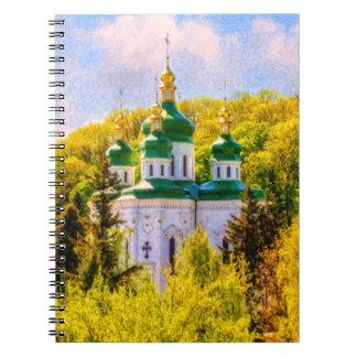 Caderno Espiral Monastério de Vydubitsky. Kiev, Ucrânia