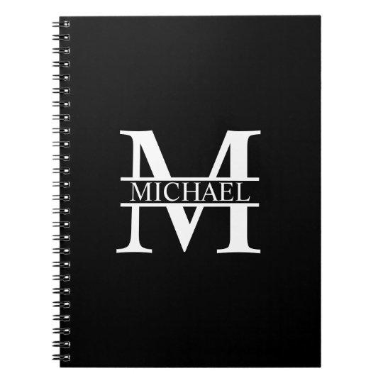 Caderno Espiral Monograma e nome personalizados