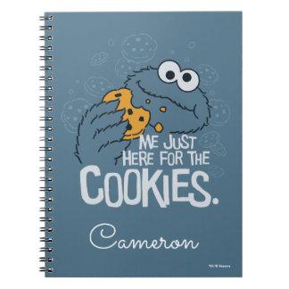 Caderno Espiral Monstro do biscoito | mim apenas aqui para os