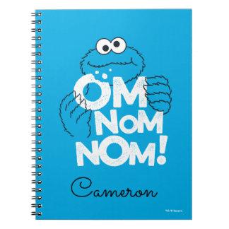 Caderno Espiral Monstro do biscoito | OM Nom Nom!