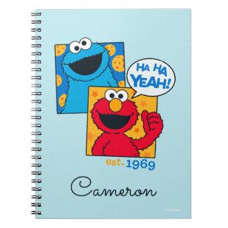 Caderno Espiral Monstro & Elmo do biscoito | Ha Ha yeah