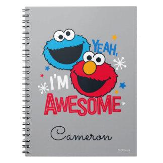 Caderno Espiral Monstro & Elmo do biscoito | yeah, eu sou