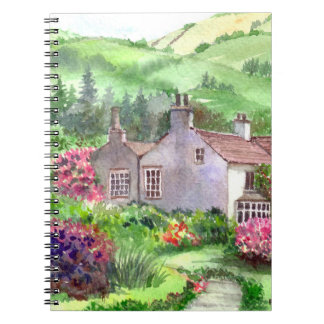 Caderno Espiral Montagem de Rydal, a casa de William Wordsworth