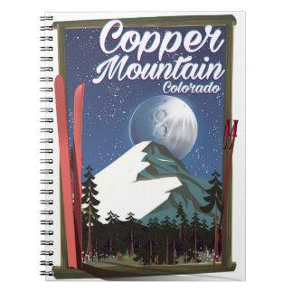 Caderno Espiral Montanha do cobre do poster de viagens de Colorado