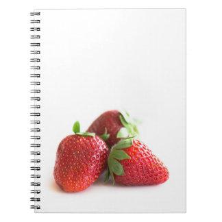 Caderno Espiral Morangos
