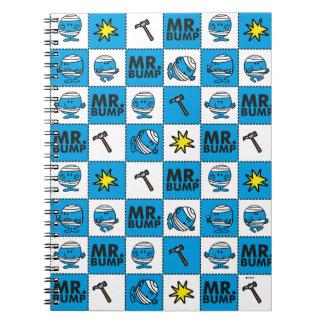 Caderno Espiral Mosaico do Sr. Colisão | no teste padrão azul