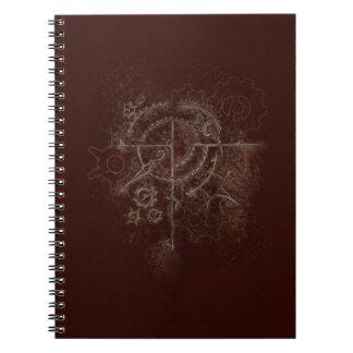 Caderno Espiral Motivo espectral de SteamPunk