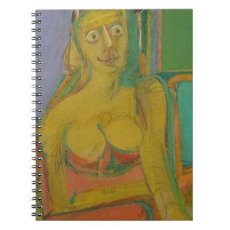 Caderno Espiral mulher William De Koonig