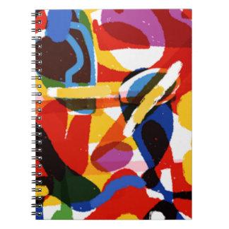 Caderno Espiral Mundo abstrato da modificação