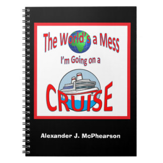 Caderno Espiral Mundos engraçados um cruzeiro personalizado