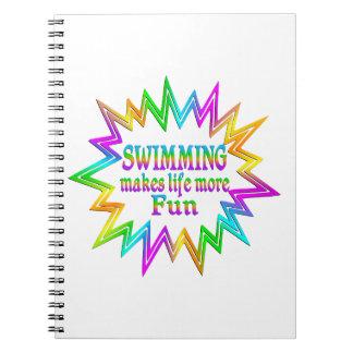 Caderno Espiral Nadando mais divertimento