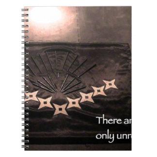 Caderno Espiral não há nenhuma finalidade unrealized dos acidentes