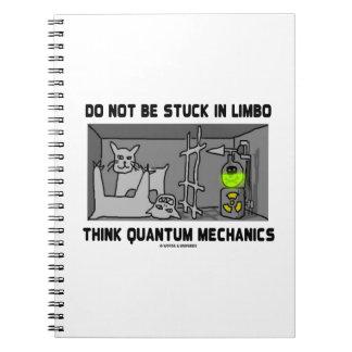 Caderno Espiral Não seja colado no limbo pensam mecânicos de