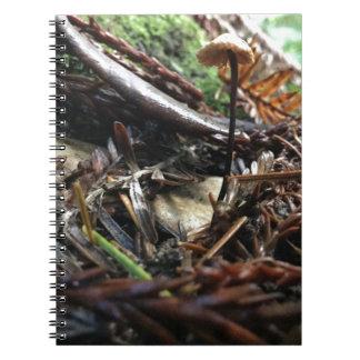 Caderno Espiral Não tropece o cogumelo