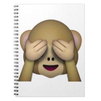Caderno Espiral Não veja nenhum macaco mau - Emoji