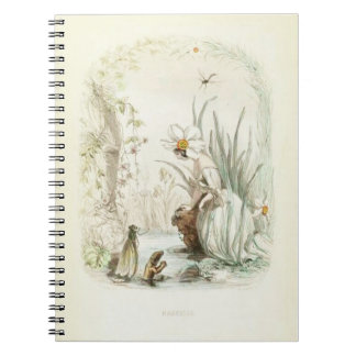 Caderno Espiral Narciso de Les Fleurs