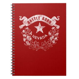 Caderno Espiral Nascer da batalha - Nevada, Las Vegas. Logotipo