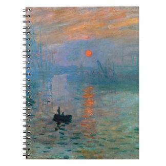 Caderno Espiral Nascer do sol da impressão por Claude Monet
