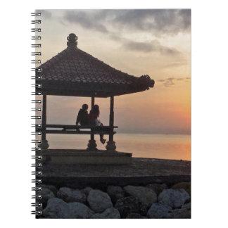 Caderno Espiral Nascer do sol de Beautidul em Bali