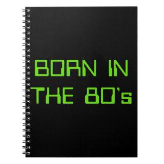 Caderno Espiral Nascer no anos 80
