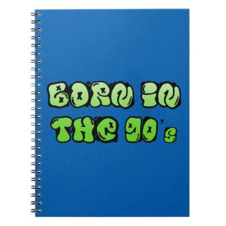 Caderno Espiral Nascer nos anos 90
