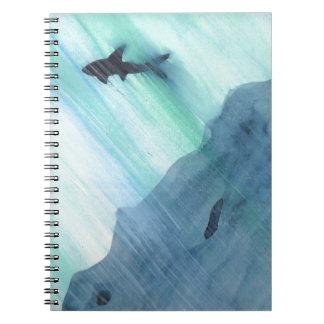 Caderno Espiral Natação do tubarão